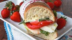 Caprese Arugula Pesto Sandwiches