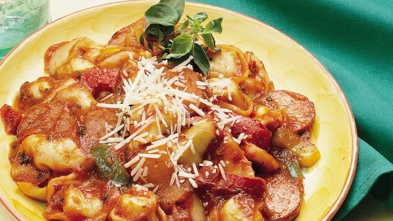 Quick Tortellini and Kielbasa