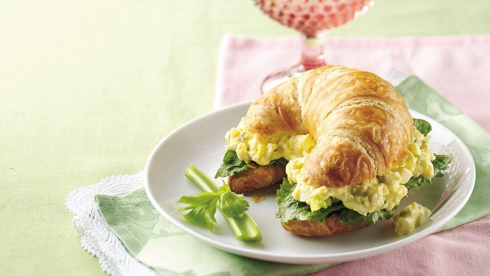 Ranch Egg Salad Croissant Sandwiches