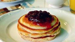 Pancakes de Queso Crema y Limón