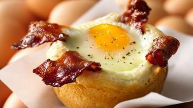 Bacon and Egg Savory Cupcakes