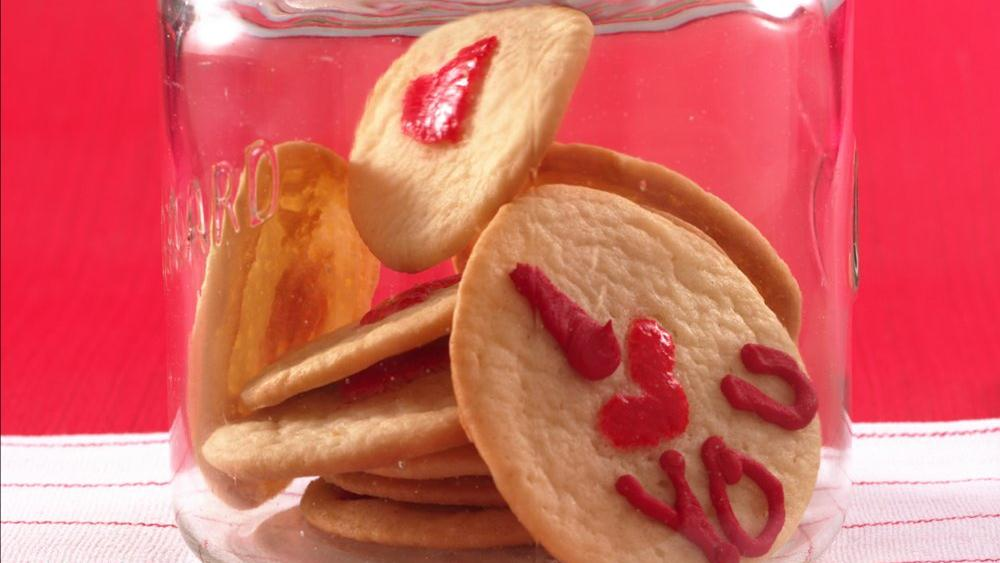 Thumbprint Heart Sugar Cookies