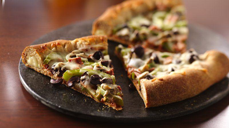 Deluxe Stuffed-Crust Pizza