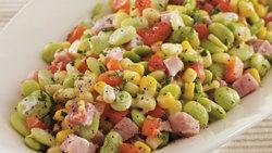 Succotash with Smoked Ham and Herbs