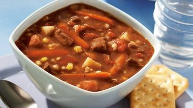Slow-Cooker Beef, Bacon and Barley Soup