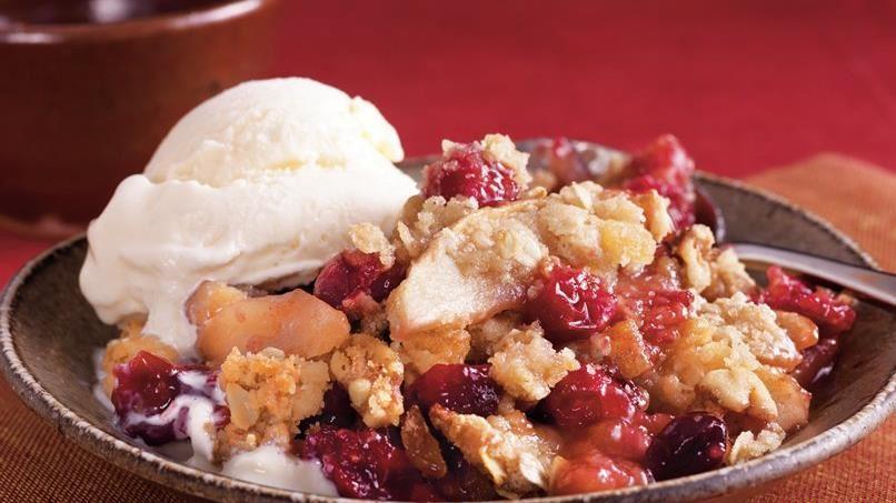 Apple-Ginger-Cranberry Crisp