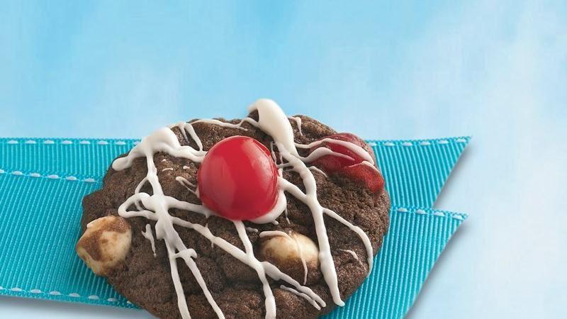 Triple Chocolate-Cherry Cookies