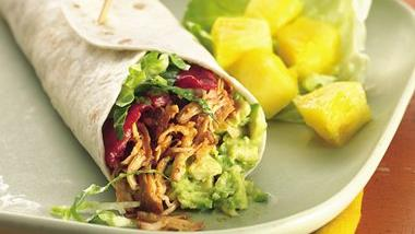 Slow-Cooker Turkey, Bacon and Avocado Wraps