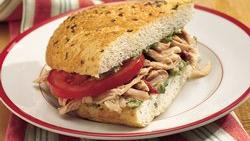 Slow-Cooker Tuscan-Style Chicken Sandwiches
