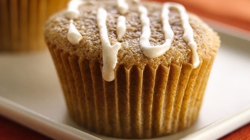 Glazed Chai-Spiced Cupcakes (White Whole Wheat Flour)