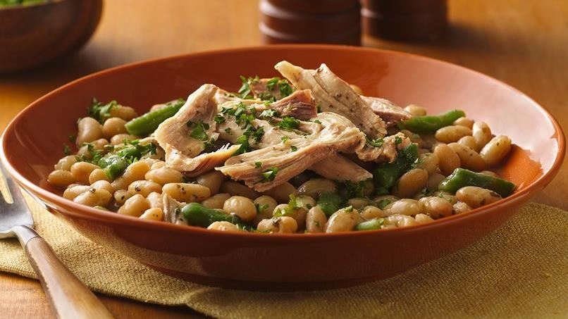 Slow-Cooker Tuscan Turkey and Beans