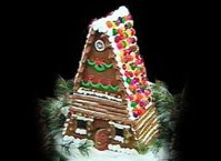 Happy Holidays Gingerbread House