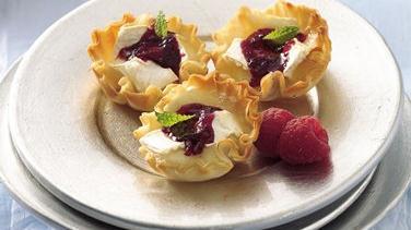 Raspberry-Brie Tarts