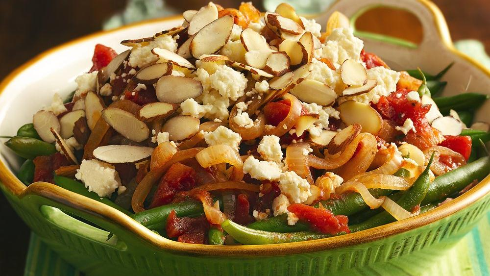 Green Beans with Tomatoes and Cotija