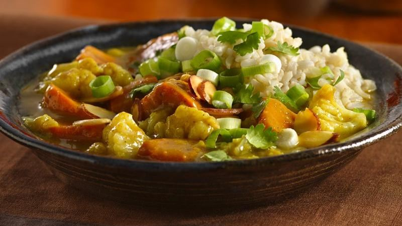 Sweet Potato-Cauliflower Curry