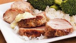 Ginger Pork with Wasabi Aioli
