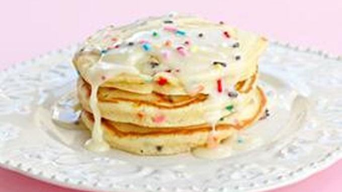 Cake Batter Pancakes recipe - from Tablespoon!