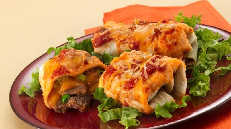 Mini Baked Steak Burritos