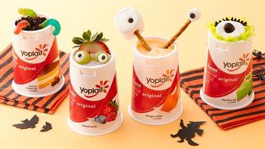 Spooky Monster Yogurt Cups