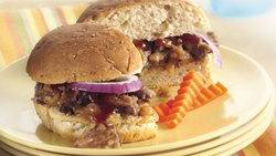Slow-Cooker Barbecue Beef Sandwiches wtih Coleslaw
