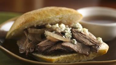 Zinfandel Beef and Blue Cheese Sandwiches