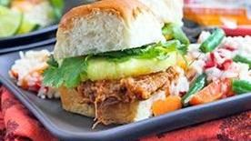 Slow Cooker Sweet and Sour Pork Sliders
