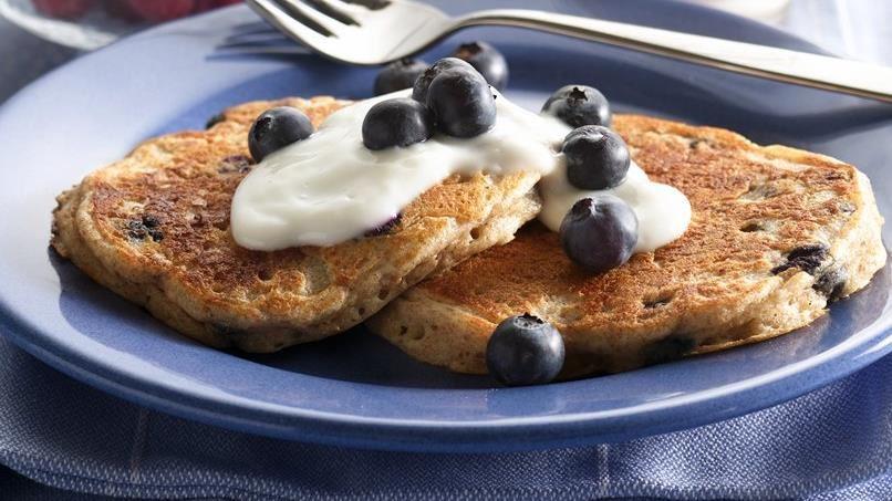 Blueberry-Oat Pancakes