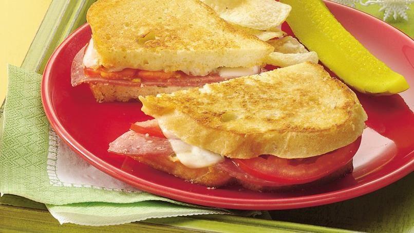 Grilled Salami Sandwiches