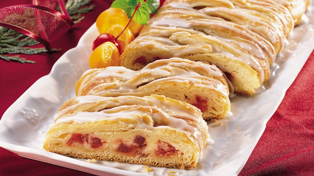 Cherry-Cheese Crescent Braid (Party size)