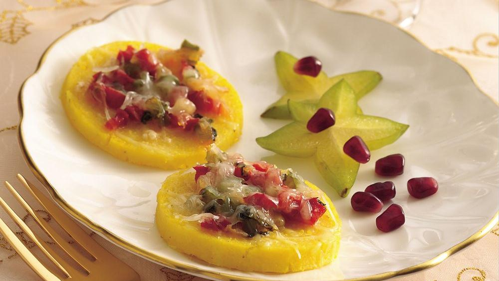 Polenta Rounds with Caramelized Vegetables