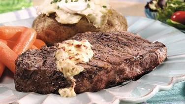 Grilled Steaks with Chipotle Butter