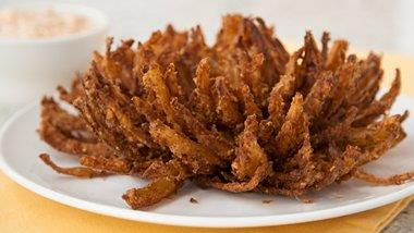 Chex® Blooming Onions with Bacon Chipotle Dip