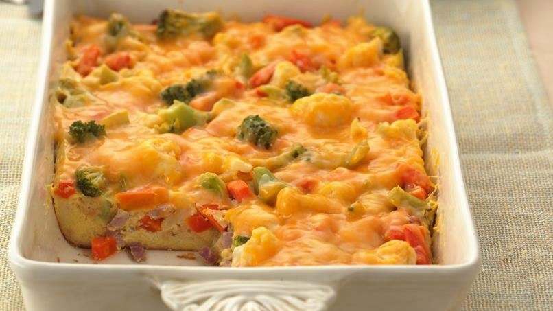 Vegetable and Ham Strata