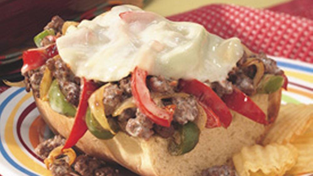Open-Faced Hamburger Phillies