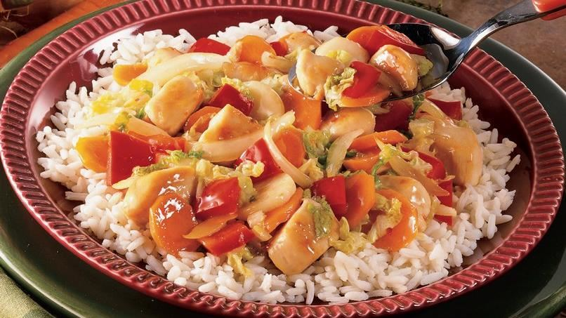 Colorful Sweet and Sour Chicken