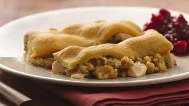Leftover Turkey Crescent Bake