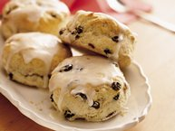 Glazed Raisin-Cinnamon Biscuits