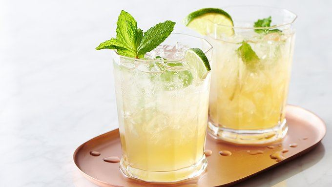 Sparkling Mint-Lime Iced Tea recipe - from Tablespoon!