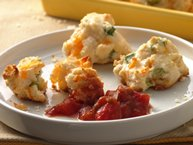 Cheddar and Green Onion Biscuit Poppers