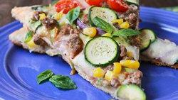 Zucchini Zen Garden Pizza