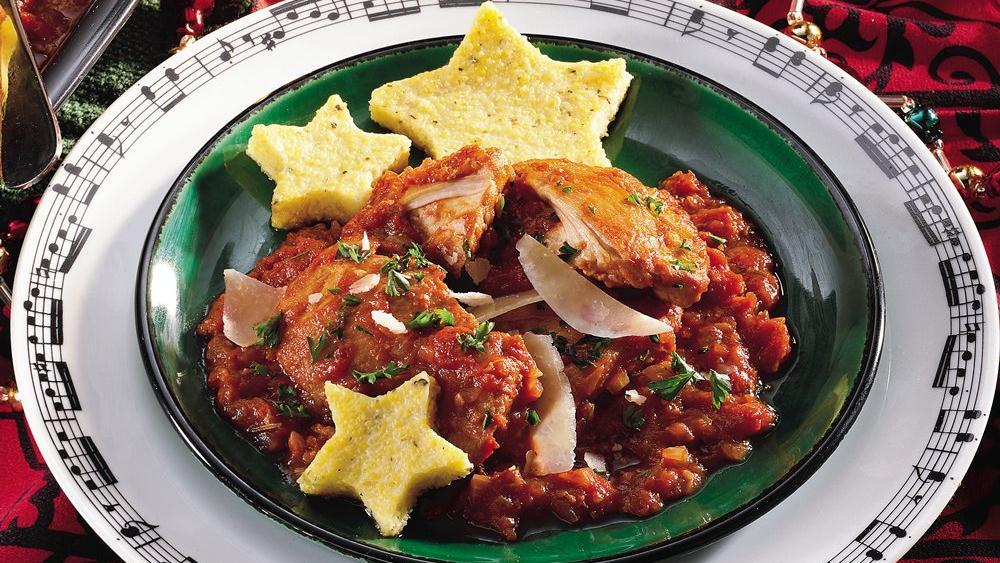 Baked Herbed Polenta Stars