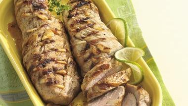 Grilled Pork Tenderloin with Garlic and Lime