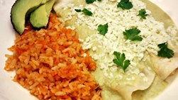 Cheese Enchiladas with Avocado Salsa