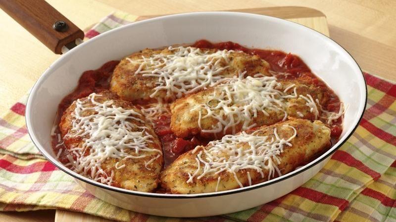 Skillet Chicken Parmesan recipe from Betty Crocker