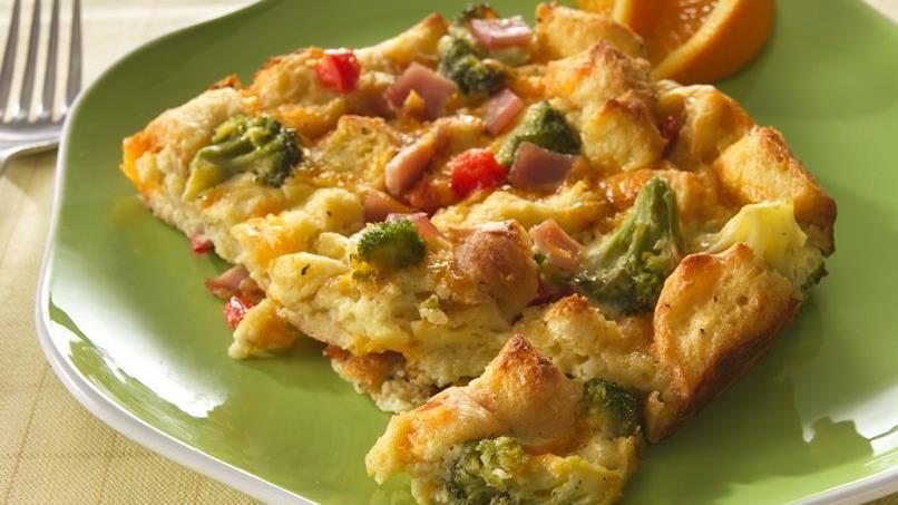 Cheesy Bacon and Broccoli Strata
