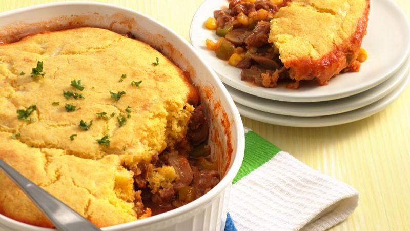 Corn Bread-Topped Sausage Pie
