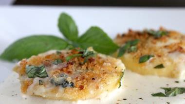 Crunchy Cheesy Oven-Baked Polenta