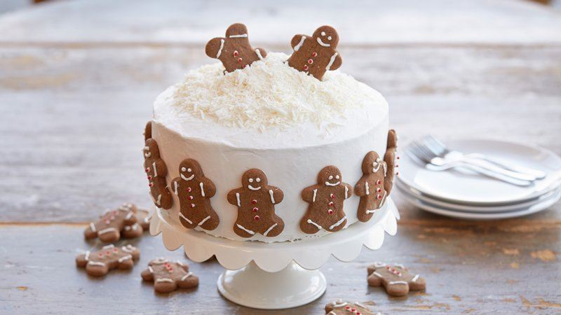 Holiday Gingerbread Cookie Cake recipe from Betty Crocker