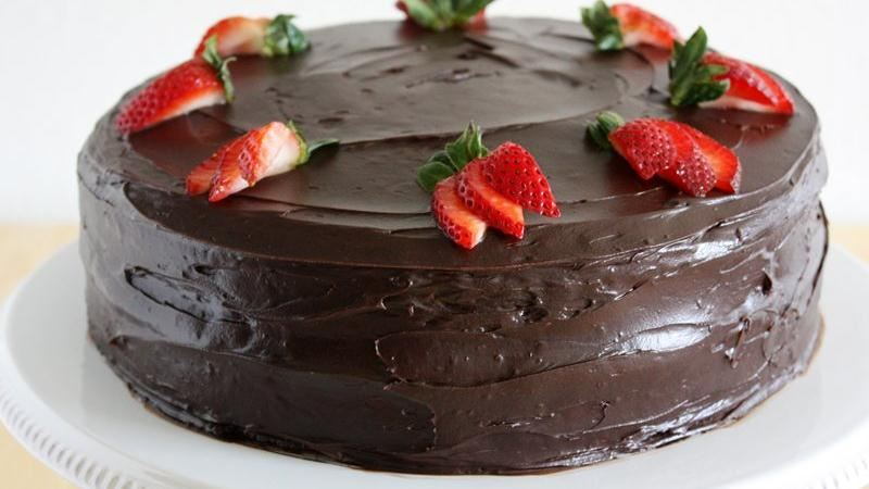 Dark Chocolate Covered Strawberry Cake Recipe From Betty