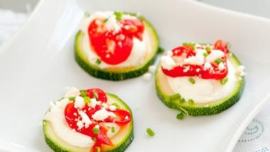 Zucchini and Roasted Red Pepper Bites